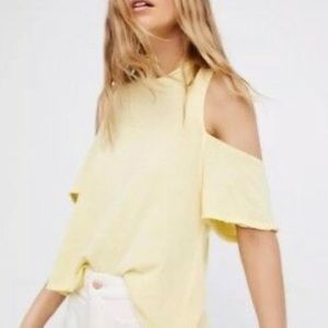 NWT Free People Taurus Cold Shoulder Wrap Top